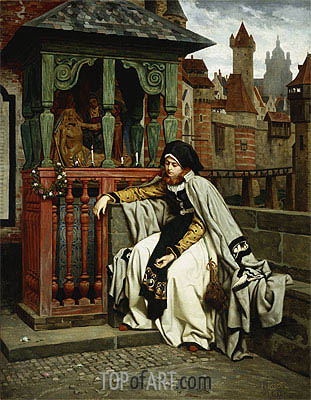 Joseph Tissot | Marguerite at the Ramparts, 1861