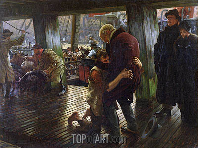 The Prodigal Son in Modern Life (The Return), 1880 | Joseph Tissot| Painting Reproduction