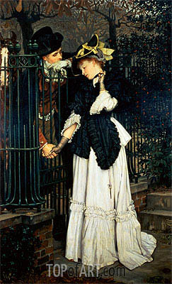 Les Adieux, 1871 | Joseph Tissot | Painting Reproduction