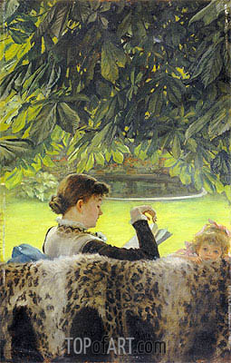 Quiet, undated | Joseph Tissot| Painting Reproduction