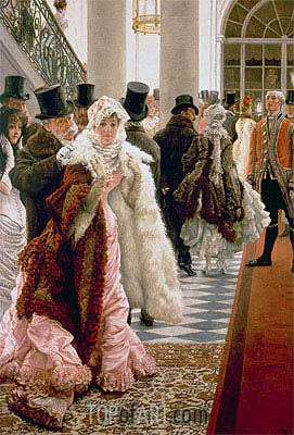 The Woman of Fashion (La Mondaine), c.1883/85 | Joseph Tissot| Painting Reproduction