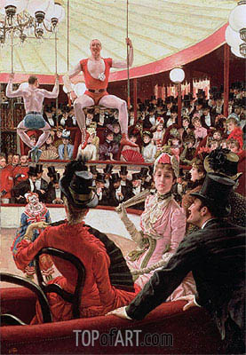 Women of Paris - The Circus Lover (The Sporting Women), 1885 | Joseph Tissot | Gemälde Reproduktion