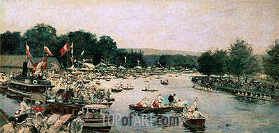 Henley Regatta, c.1877 | Joseph Tissot | Painting Reproduction