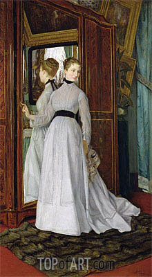 L'Armoire, 1867 | Joseph Tissot | Painting Reproduction