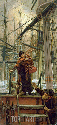 Emigrants, c.1879 | Joseph Tissot | Painting Reproduction