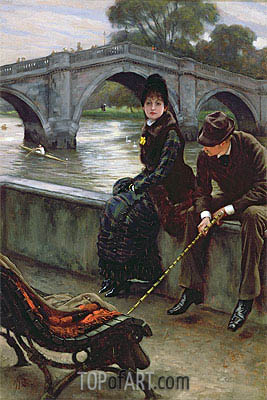Richmond Bridge, c.1878 | Joseph Tissot| Painting Reproduction