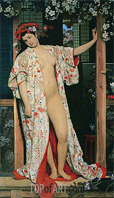 Japanese Girl Bathing, 1864 | Joseph Tissot| Painting Reproduction