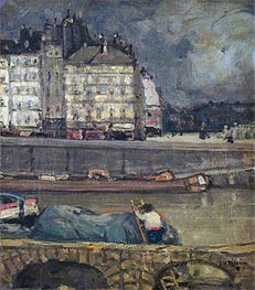 The Left Arm of the Seine in Front of the Place Dauphine | James Wilson Morrice | outdated