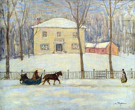 The Old Holton House, Montreal, c.1908/09 von James Wilson Morrice | Gemälde-Reproduktion