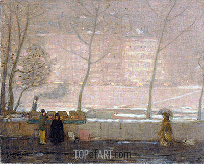 Quai des Grands-Augustins, c.1890/05 | James Wilson Morrice | Painting Reproduction