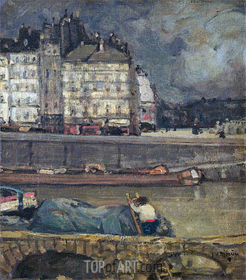 The Left Arm of the Seine in Front of the Place Dauphine, undated | James Wilson Morrice | Gemälde Reproduktion