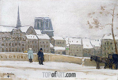James Wilson Morrice | Notre-Dame, Paris, c.1901/02