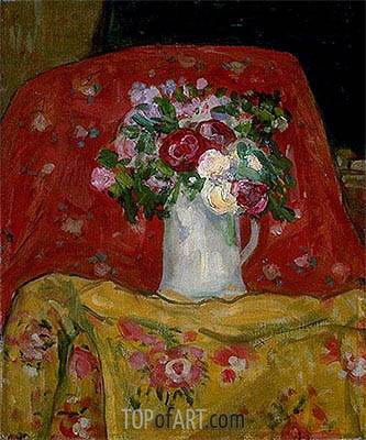 Flowers, c.1911/12 | James Wilson Morrice | Gemälde Reproduktion