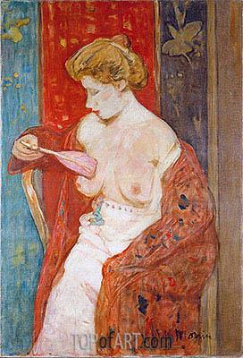 James Wilson Morrice | Woman in Red Bathrobe, c.1912/14