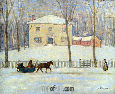 The Old Holton House, Montreal, c.1908/09 | James Wilson Morrice| Painting Reproduction