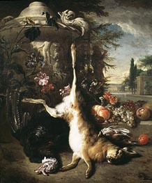 Still Life with Dead Hare, undated von Jan Baptist Weenix | Gemälde-Reproduktion