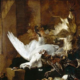 Still Life with a Dead Swan | Jan Baptist Weenix | outdated