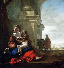 Rest on the Flight into Egypt, c.1647/50 von Jan Baptist Weenix | Gemälde-Reproduktion