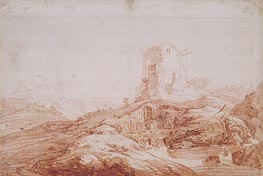 Landscape with Stream and Ruins, c.1647 von Jan Baptist Weenix | Gemälde-Reproduktion