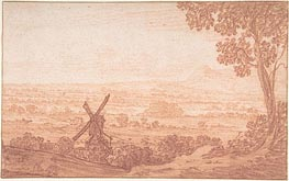 An Extensive Panoramic Landscape with a Windmill, Undated von Jan Baptist Weenix | Gemälde-Reproduktion