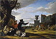 Ruined Landscape with a Tavern | Jan Baptist Weenix