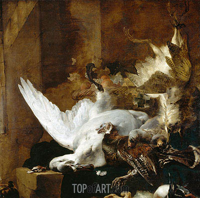Still Life with a Dead Swan, c.1651 | Jan Baptist Weenix| Painting Reproduction