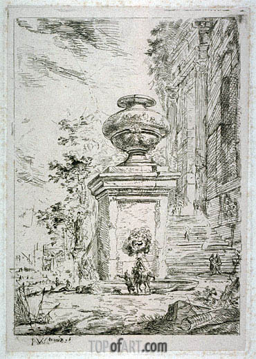 La Fontaine, undated | Jan Baptist Weenix | Gemälde Reproduktion
