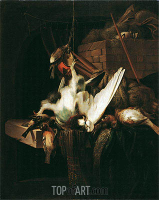 Dead Game Birds,  | Jan Baptist Weenix | Painting Reproduction