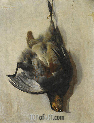 Jan Baptist Weenix | A Still Life of a Grey-Leg Partridge, Undated