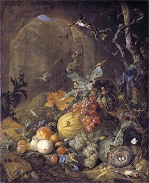 Still Life with Bird's Nest, Undated by de Heem | Painting Reproduction
