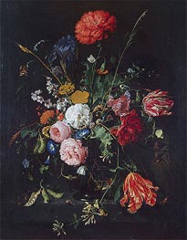Flowers in a Vase, Undated by de Heem | Painting Reproduction