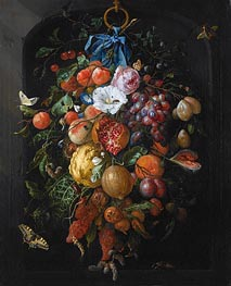 Festoon of Fruit and Flowers | de Heem | outdated