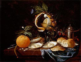 Still Life, c.1645 by de Heem | Painting Reproduction