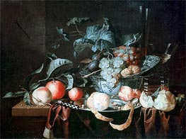 Fruit Still Life, 1664 by de Heem | Painting Reproduction
