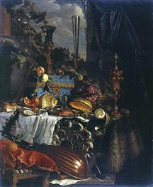 Still Life, c.1665/70 by de Heem | Painting Reproduction