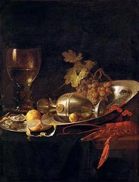 Breakfast Still Life, c.1635 by de Heem | Painting Reproduction