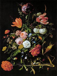 Still Life with Flowers, c.1650/60 by de Heem | Painting Reproduction