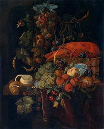 Still Life with Fruit and Lobster | de Heem | Painting Reproduction