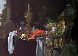 Still Life: A Banqueting Scene, c.1640/41 by de Heem | Painting Reproduction