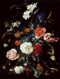 A Vase of Flowers | de Heem | Gemälde Reproduktion