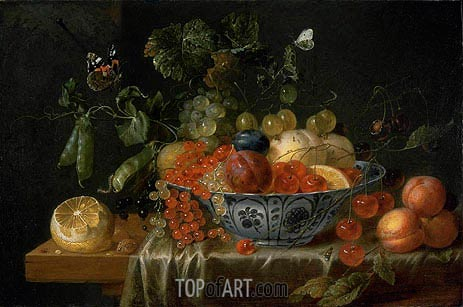 de Heem | Still Life with Fruit and Butterflies, c.1645/55