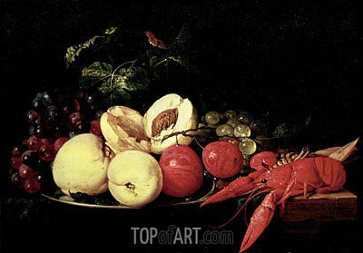 Still Life of Fruit with a Lobster,  | de Heem| Gemälde Reproduktion