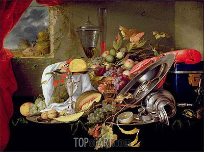 Still Life,  | de Heem | Painting Reproduction
