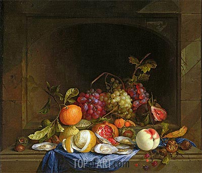 Still Life of Fruit,  | de Heem| Painting Reproduction