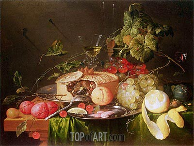 Still Life of Fruit, 1651 | de Heem| Painting Reproduction