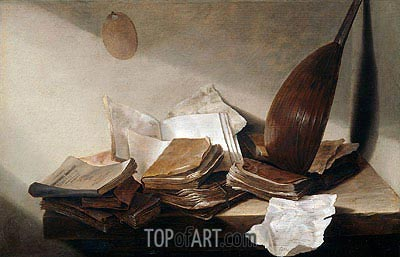 Still Life with Books, 1630 | de Heem| Painting Reproduction
