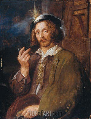 Self Portrait, 1650 | de Heem| Gemälde Reproduktion