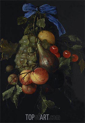 Fruit Cluster, 1651 | de Heem | Painting Reproduction