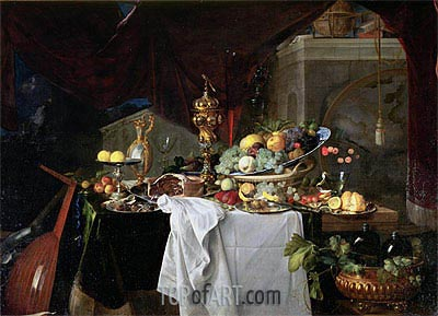 Still Life of Dessert, 1640 | de Heem | Painting Reproduction