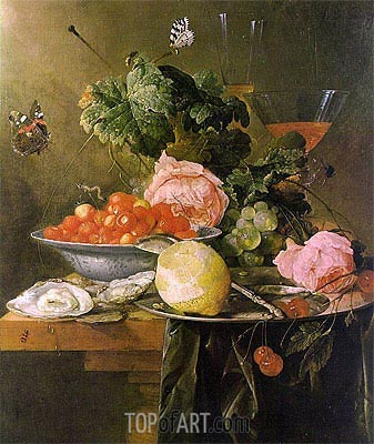 Still Life with Fruit, 1652 | de Heem| Painting Reproduction